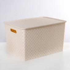Корзина для хранения с крышкой «Береста», 14 л